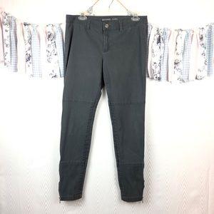 Michael by Michael Kors Skinny Zipper Ankle Pants